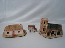 Vintage Art Pottery Made in Scotland Lot Of 3 Miniature Country Cottages