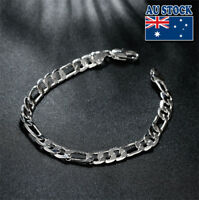 Wholesale 925 Sterling Silver Layered Classic 6MM Solid Chain Bracelet Gift