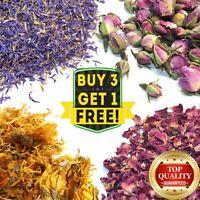 Dried Flowers & Petals 52+ Types! Rose Lavender Jasmin Chamomile Cornflower etc.