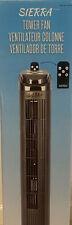 """Sierra 40"""" 4 Speed Tower Fan w/ Remote & Electronic Timer Ultra-Quiet"""