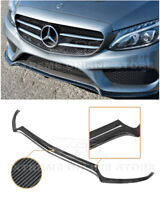 For 15-18 W205 C-Class AMG Sport CARBON FIBER Front Bumper Lower Lip Splitter