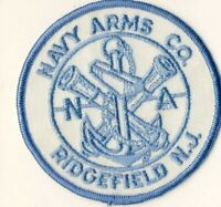 "Navy Arms Co. Ridgefield NJ New Jersey 4"" Firearms Advertising Patch"