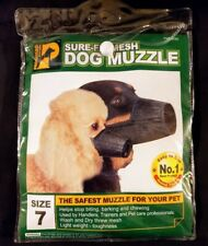 ProGuard Pets.com Sure-Fit Mesh Dog Muzzle Stops Chewing Biting Barking Size 7
