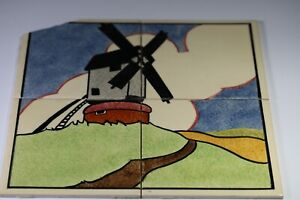 """CARTER TILES - POOLE POTTERY Windmill 12""""x12"""""""
