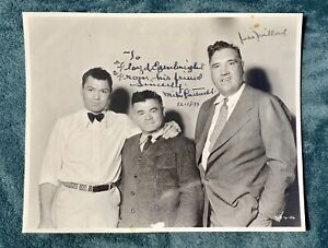 Vintage Boxing Photograph 1933 Jack Dempsey Jess Willard Signed? & Unknown Gent
