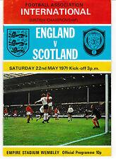 1971 Soccer International -England vs. Scotland - Ticket, Program & Song Sheet