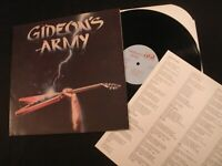 GIDEON'S ARMY - Warriors of Love - 1986 Private Vinyl 12'' Lp./ Christian Rock