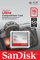 SanDisk 16GB 16 GB CF Ultra Compact Flash Memory Card 50MB/s SDCFHS-016G New