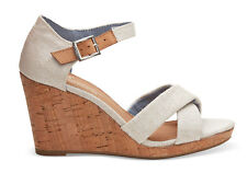 Toms Womens Sienna Natural Yarn Dye Wedges Strap Various Sizes