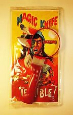 Vintage 1970's Terrible Magic Knife with American Indian Package - Hong Kong