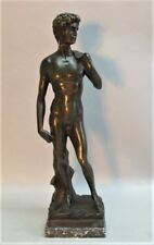 Fine 19th C. GRAND TOUR BRONZE Sculpture of APOLLO  c. 1890  antique nude