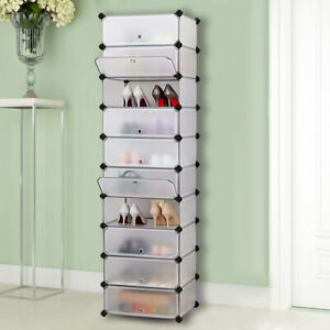 10Cube Plastic Wardrobe Cupboard Closet Cabinet Organizer shoe Storage Furniture