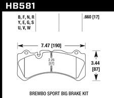 Hawk Disc Brake Pad Front for 15-17 Volvo V60 & S60