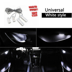 4PCS White Auto Car Door Bowl Handle LED Ambient Atmosphere Light Interior
