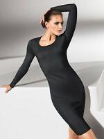 WOLFORD MERINO LUXE Wool Jumper Dress Black BNIB RRP £645 L Large