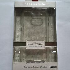 Case-Mate Clear Naked Tough Case Samsung Galaxy S6 Edge w'ZAGG Cleaner Brand New