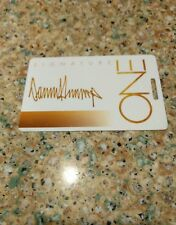 THE TRUMP ONE SIGNATURE CARD  BLANK no names or #s Collectors Piece FREE SHIP!!!