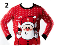New Mens Womens Xmas Christmas Knitted Novelty Jumper Sweater Xmas Gift S,M,L