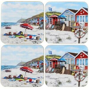 Leonardo Collection Set Of 4  Sandy Bay Holiday Beach Coasters LP94206