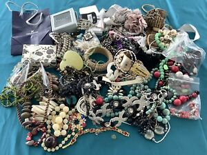 2.7kg Job Lot Broken Jewellery Broken Costume Jewellery Tangled Spare Repairs