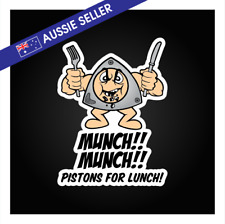 Munch Munch Pistons For Lunch Rotary Sticker 13B 20B 12A RX7 RX3 RX4 Funny RX8