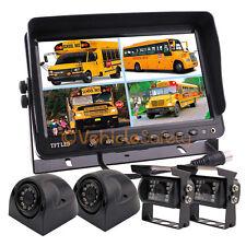 "9"" Quad Monitor Car Rear View Camera System Truck Trailer Caravan Backup Camera"