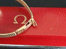 9ct Gold Omega Oval Bracelet Cocktail Watch Elegant Ladies Vintage 1960s