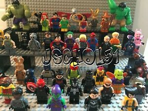 LEGO DC & Marvel Super Heroes Minifigures Lot - You Pick - Superman, Batman,...