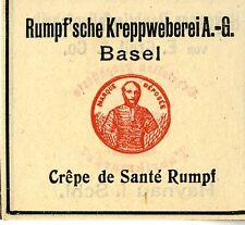 Scafo's che crespi bruni tessitura A.G. Basilea crepe de Santè scafo trademark 1908