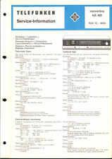 Telefunken Original Service Manual für Concertino 401