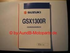 GSX 1300 R Hayabusa K8 Fahrerhandbuch NEU / Owner Manual NEW original Suzuki