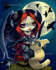 Jasmine Becket-Griffith art print SIGNED Once Upon a Midnight Dreary poe fairy