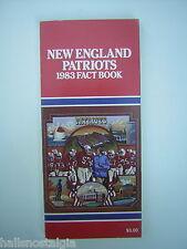1983 New England Patriots Fack Book Media Guide - Mark Van Eeghan, Julius Adams