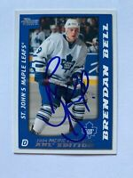 2004 Pacific Prospects Brendan Bell St. John's Maple Leafs Autographed Card