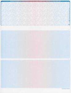 Blank Check Paper Stock-Check On Top-Versa Check-Prismatic BlueRedBlue-Count/500