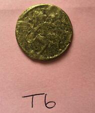 More details for rare antique brass hindu ram darbar hanuman with gada good luck gift token t6