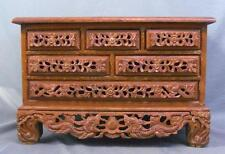 Highly Carved Antique Oriental 6 Drawer Herb & Spice Chest