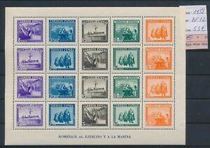 LO10858 Spain 1938 marine soldiers ships good sheet MNH cv 55 EUR