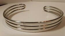 Bracelet Marked Pd Silver Tone Minimalist Cuff