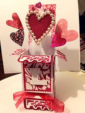 Handmade Luxury Valentines Day Heart Pop-up Card