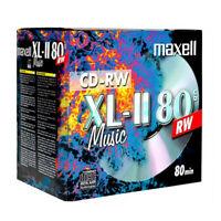 10 Maxell Audio CD-RW JEWEL CASE 80 min 4x 700MB Music XL2 XLII 624865.35.TW .