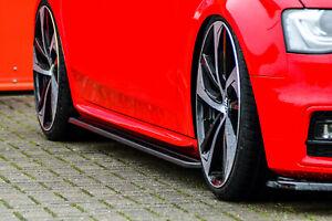 Seitenschweller Sideskirts aus ABS für Audi A4 B8 S-Line S4 B8 Facelift Cup
