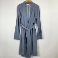 Somedays Lovin Medium Blue Indigo Chambray Duster Coat Jacket Womens Undercover