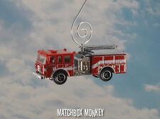 Custom Pierce Dash Fire Ladder EMS Truck Christmas Ornament 1/64 Adorno NEW!