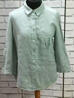 Womens Jaeger Linen Shirt long shirt blouse size 10