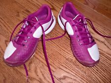 wholesale dealer 6eedd 63ce7 Womens ~ADIDAS~PurpleWhite Lace up Golf Tennis Athletic Shoes Size 7 M