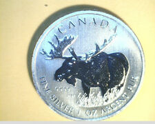2012 Canada, Wildlife Series, Moose,  High Grade 1 oz Slv   (Can-256)