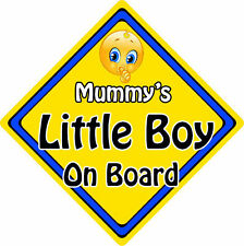Non Personalised Child/Baby On Board Emoji Car Sign ~ Mummy's Little Boy