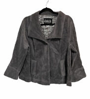 Live A Little LAL Corduroy Jacket Top Pockets Slit Sleeves Women's Plus Size 1X