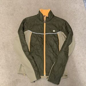 pearl izumi Ladies Lightweight Softshell Quilted Cycling Jacket Coat S Green